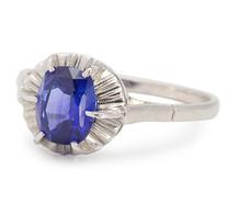 Indigo Nights - Sapphire Platinum Ring