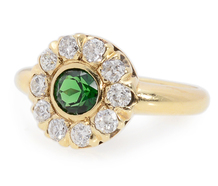 Pizzazz! Tourmaline Diamond Cluster Ring