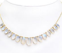 Glowing Fringe: Edwardian Moonstone Necklace