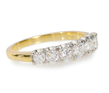 Stackable Diamond Set Half Eternity Band