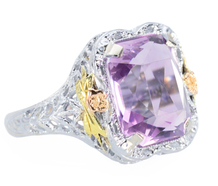 Lilacs & Flowers: Amethyst Filigree Ring