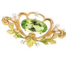 Krementz Divine: Art Nouveau Pendant Brooch
