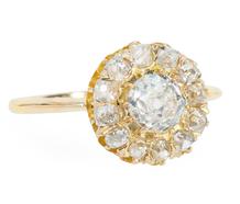 Bravo: Antique Diamond Halo Ring