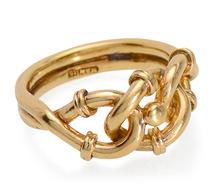 Edwardian Love Knot Motif Gold Ring