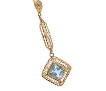 Femininity: Aquamarine Diamond Pendant