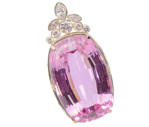 Unbelievable 118 ct. Kunzite Diamond Pendant!