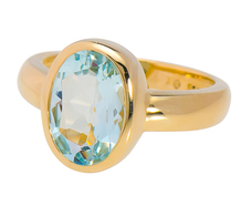 The Life Aquatic: Aquamarine Solitaire Ring