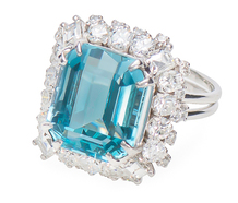 Polar Frolic - Aquamarine Diamond Ring