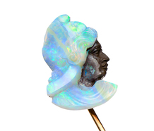 The God Hermes Cameo Opal Stick Pin