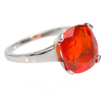 Light My Fire Opal Ring in Platinum