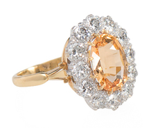 New Day - Topaz Diamond Halo Ring