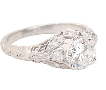 Finesse Defined: 1.03c Diamond Engagement Ring