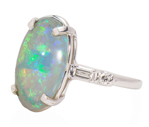 Holographic Serenade - Opal Platinum Ring
