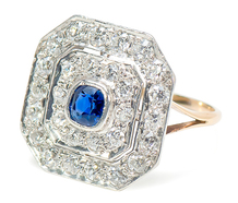 Blue Angle - Diamond Sapphire Ring