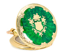 Time Immemorial - Guilloché Enamel Locket