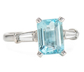 Caribbean Cool Aquamarine Diamond Ring
