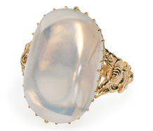 Moonrise Kingdom - Over the Top Blue Moonstone Ring