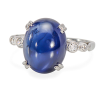 Magnificent 11.75 ct. Sapphire Diamond Ring