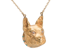 Edwardian French Bulldog Pendant Necklace