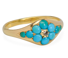 True Blue: Victorian Turquoise Diamond Ring
