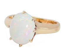 Interplay - Antique White Opal Ring