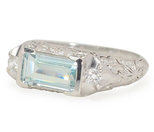 Its All in the Details - Vintage Aquamarine Ring
