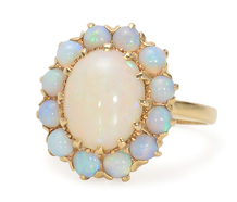 A Christmas Remembered -  Opal Cluster Ring