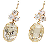 Elegance Personified: Yellow Sapphire Earrings