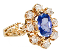 Victorian Burmese No Heat Sapphire Ring