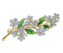 True Blue: Forget-Me-Not Enamel Brooch