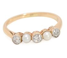Sea & Stars - Vintage Diamonds & Pearl Ring