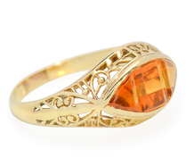 Golden Art Deco Citrine Ring