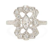 Sheer Bliss: Vintage Diamond Platinum Ring