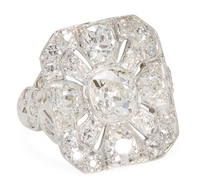 Beyond Compare: Art Deco Diamond Ring