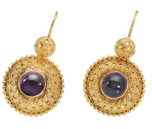 Victorian Archaeological Revival Amethyst Earrings