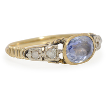 18th C. Sapphire Diamond Ring Exceptional