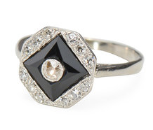 Black & White: Diamond Onyx Ring
