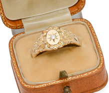 Antique Gypsy Set Diamond Ring