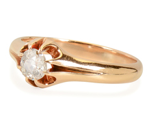 Victorian Solitaire Diamond Flower Ring