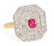 Be Still My Heart: Ruby Diamond Ring