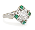 Green Goddess: Belais Diamond Emerald Ring