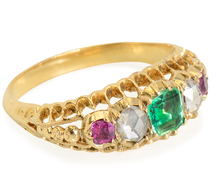 Colorburst - Victorian Five Gem Ring