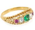 Colorburst - Victorian Five Gem Ring