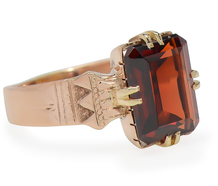With a Flourish: Victorian Garnet Ring