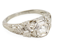 Filigree Fantasy: Solitaire Diamond Ring