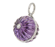 Etched in Memory - Amethyst Diamond Pendant