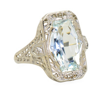 The Sky's The Limit - Aquamarine Ring
