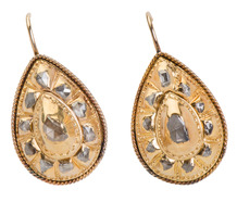 18th C. Georgian Diamond Earrings
