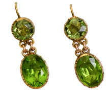 Green with Envy: Georgian Paste Earrings