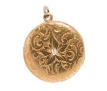 Edwardian Diamond Locket Pendant